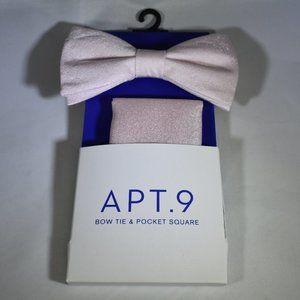 Apt. 9 NWT Bow Tie & Pocket Square Set Pink